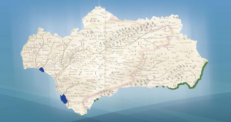 Mapa de fanerógamas en Andalucía